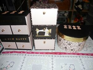 ADORABLE...STURDY CARDBOARD SEWING BOXES...CONTAINERS...8.99 $8.99