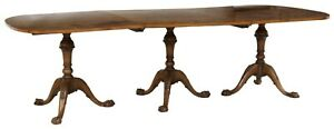 Antique Table Dining Chippendale Style Triple PedestalEarly to mid 1900#x27;s $3789.00