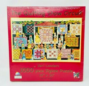 SunsOut THE QUILTING SHOW CIRCUIT By Jeri Landers 1000 Piece Jigsaw Puzzle New $19.97