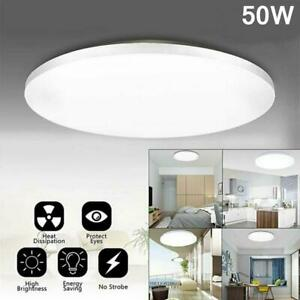 1pcs 50W LED Surface Mount Fixture Ceiling Light Room Kitchen Round Panel Lights