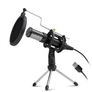 Condenser Recording Microphone 3.5mm Plug And Play PC Microphone Broadcast $28.94