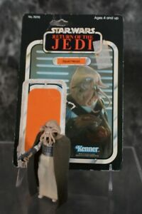 1983 Kenner Star Wars SQUID HEAD COMPLETE No Repro HK COO W CARD