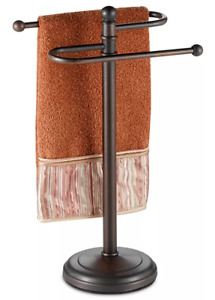 Curved Hand Towel Tree Home Bathroom Storage Organizer Hanging Rack Stand New $38.97