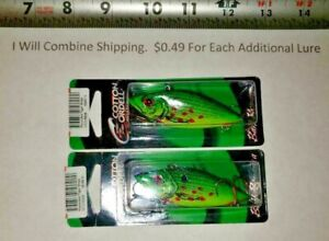 Lot of 2 Cordell Spot 1 2 oz Rattle Trap Fishing Lure 3 inch Wounded Tiger Shad
