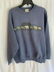 Vintage Lincoln Park Zoo Chicago Elephants Sweatshirt Large Made in USA