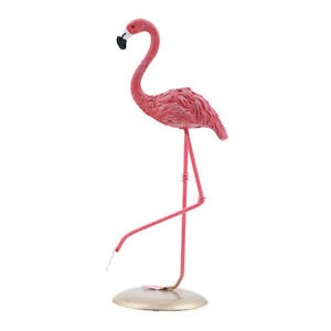 Flamingo Figurine Ornament Resin Large Birds Decoration Outdoor Yard 7inches $9.60