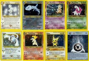 Pokemon Cards Neo Genesis Choose Your Card NM Near Mint or LP Light Play $1.70