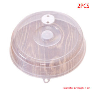 2x Microwave Plate Cover Anti Splatter Lid with Steam Vent Bowl Food Protection