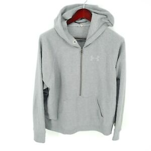 Under Armour Hoodie Mens Large 1 2 Zip Pullover Fleece Lined Gray * $35.14