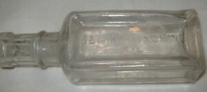 Old 5quot; Clear Glass Sewing Machine Oil Bottle Antique 1890's $8.99