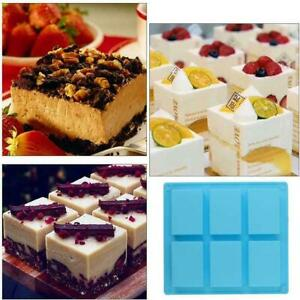 6 Cavity Silicone Rectangle Soap Mould Homemade DIY Making Cake Food Mold CA C $6.32