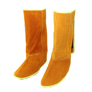 Heat Resistant Leather Welding Split Protective Shoe Cover for metal casting $22.97