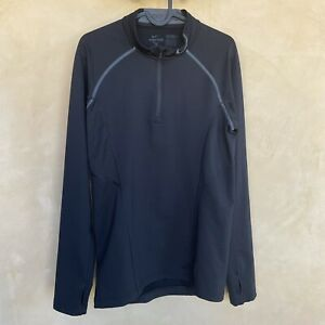 Nike Pro Fitted Men's Small S Dri Fit Shirt Long Sleeve Mock Neck Black And Gray $22.99