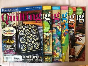 Lot of 6 Fons and Porter#x27;s Love of Quilting Magazines 2005 $11.99