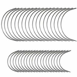 40 Curved Leather Needles for Hand Sewing Leather Projects Carpet Canvas $8.17
