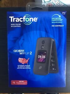 Tracfone Alcatel MY FLIP 2 Cellular Phone 4G LTE 2MP BRAND NEW SEALED $31.90