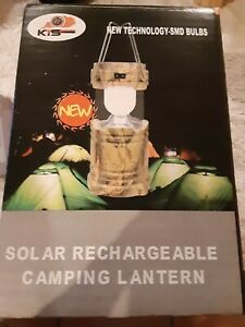 KTS Solar Rechargeable 110V Rechargeable Camping Lantern Survival Gear