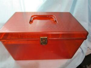 Vintage WILSON Wil Hold Hard Plastic Sewing Box with handle and inside Tray $12.97