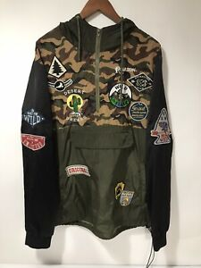 Reason Camo With Patches Long Sleeve Pullover Hoodie Men's XXL Good Condition