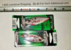 Lot of 2 Cordell Spot 1 2 oz Rattle Trap Fishing Lures 3 inch long Wounded Shad