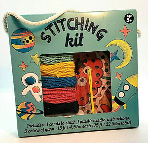 Kids Sewing amp; Stitching Beginners Space Kit $7.99