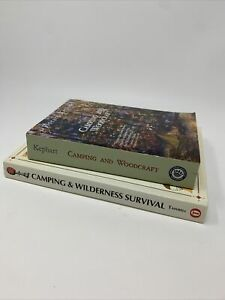 Camping and Wilderness Survival Camping amp; Woodcraft PB Book Lot Kephart Tawrell