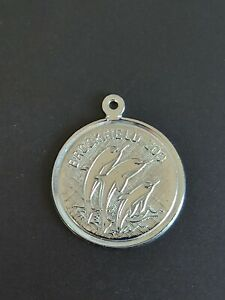 Sterling Silver Brookfield Zoo Chicago Dolphin Round Charm or Pendant