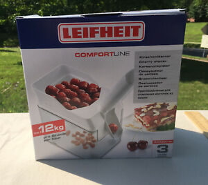 New Leifheit Cherry Pitter Stone Catcher Container Cherry Stone Remover Germany