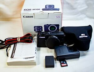 Canon EOS M100 24.2 MP Mirrorless Camera Black Body Only