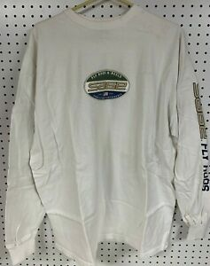 Sage Fly Rods Shirt Adult XL White L S Reels since 1980 Americas Best Fishing