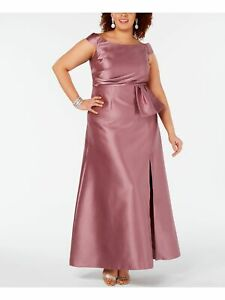 ADRIANNA PAPELL Pink Full Length Dress 20W $63.99