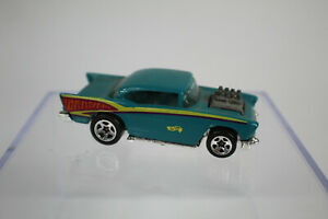 1994 Vintage Hot Wheels Collector #213 57 CHEVY Teal 5 Spokes $7.99
