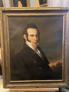 Antique 19th Century Portrait Painting Of A Man by John Neagle 1844 $1825.00