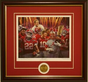ALABAMA football 2020 National Championship framed print Unrivaled by D Moore