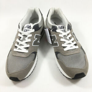 New Balance Used Sneakers Ml570Hjc Gray Suede Mesh Upper
