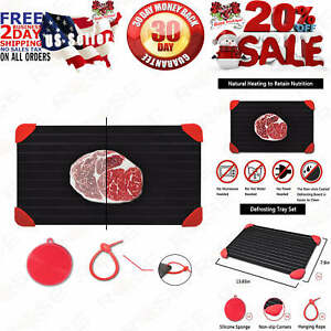 Defrosting Tray for Frozen Meat Rapid and Safer Way of Thawing Food Large Siz...