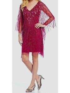 ADRIANNA PAPELL Pink Sleeveless Above The Knee Dress M $42.99