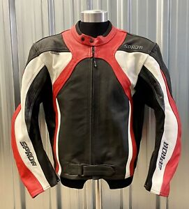 SPADA Men's Leather Motorcycle Jacket Size U.K 46 EUR 56 Great Condition GBP 84.99