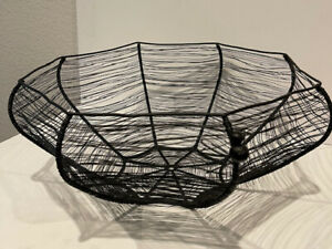 Large Metal Spider Web Bowl Perfect for Halloween Candy $35.00