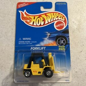 1996 Vintage Hot Wheels Collector #475 FORKLIFT Yellow Black $4.99