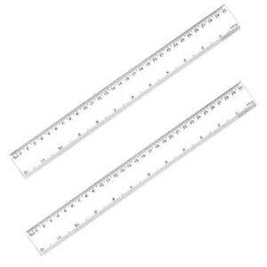 2 Pack 12 Inches Clear Plastic Ruler Straight Ruler Plastic Measuring Tool for $4.25