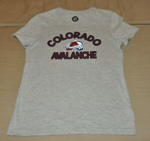 NWOT Colorado Avalanche Boys Gray Youth T shirt L Shirt Jersey 10 12 Large $9.99
