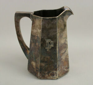 Antique Early Kalo Chicago Sterling Silver Hand Wrought Angular Pitcher 768g $3499.99