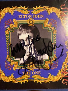 """ELTON JOHN SIGNED """"THE ONE"""" CD COVER W JSA LETTER OF AUTHENTICITY $4500.00"""