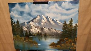 Oil Painting Mountains Original 18x24 framed $79.00