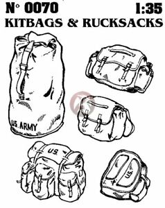 Verlinden 1 35 US Army Military Kit Bags and Rucksacks Backpacks 5 pieces 70 $17.95