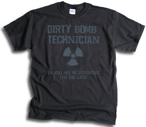 Funny Bomb Squad If You See Me Running it's to Late Mens Womens T shirts Sm 3XL
