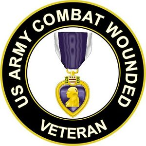 Army Combat Wounded 'Purple Heart Medal' 5.5