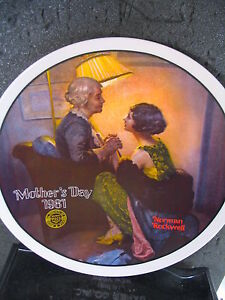 Norman Rockwell 1981 AFTER THE PARTY  Mother's Day Series Ltd Ed Plate MIB