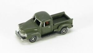 z scale 1950 s era half ton pick up truck by